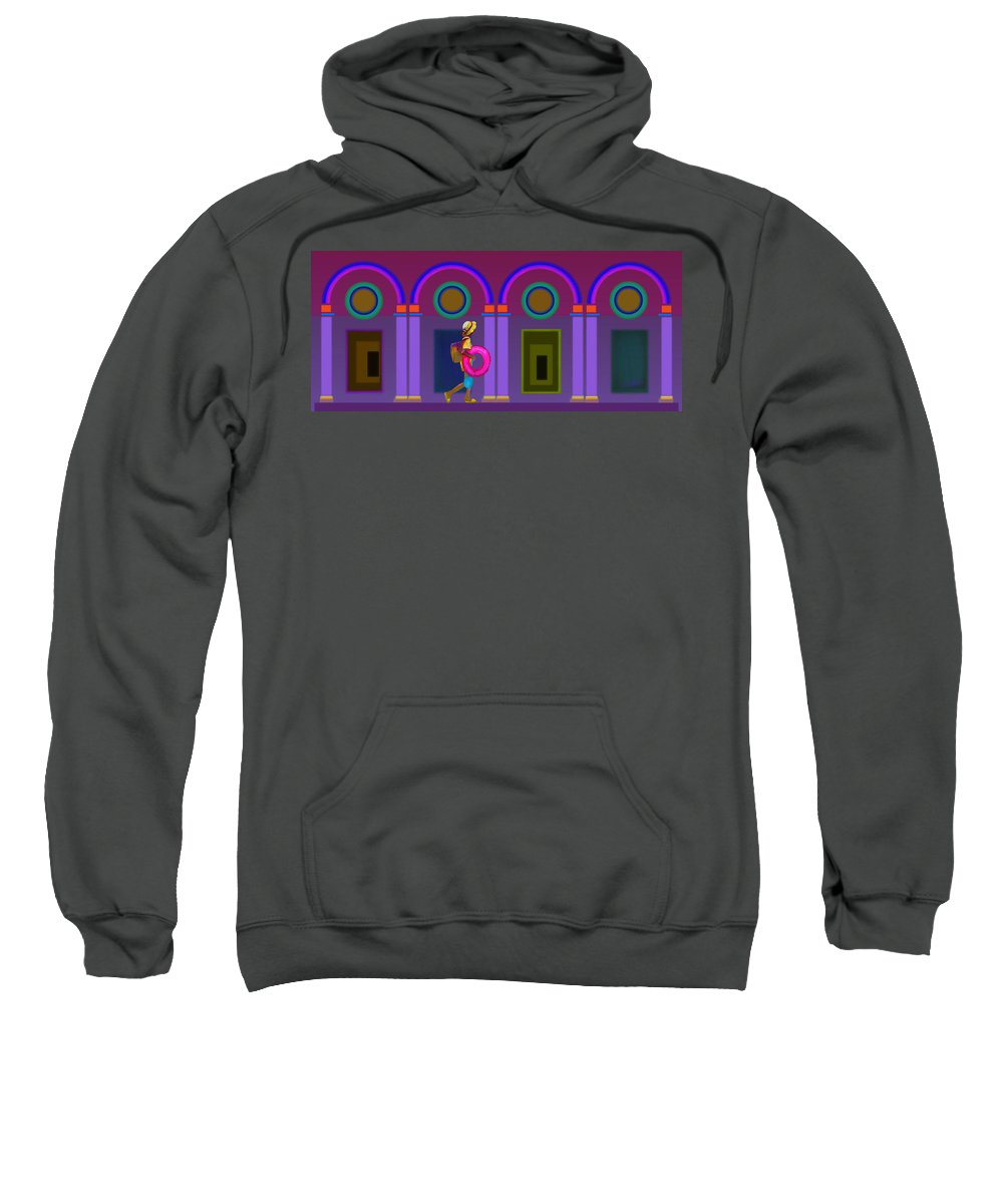 Classical Sweatshirt featuring the painting Roman Lavender by Charles Stuart