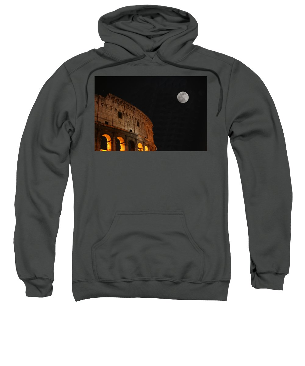 Coliseum Sweatshirt featuring the photograph Roman Moon by Scott Gray