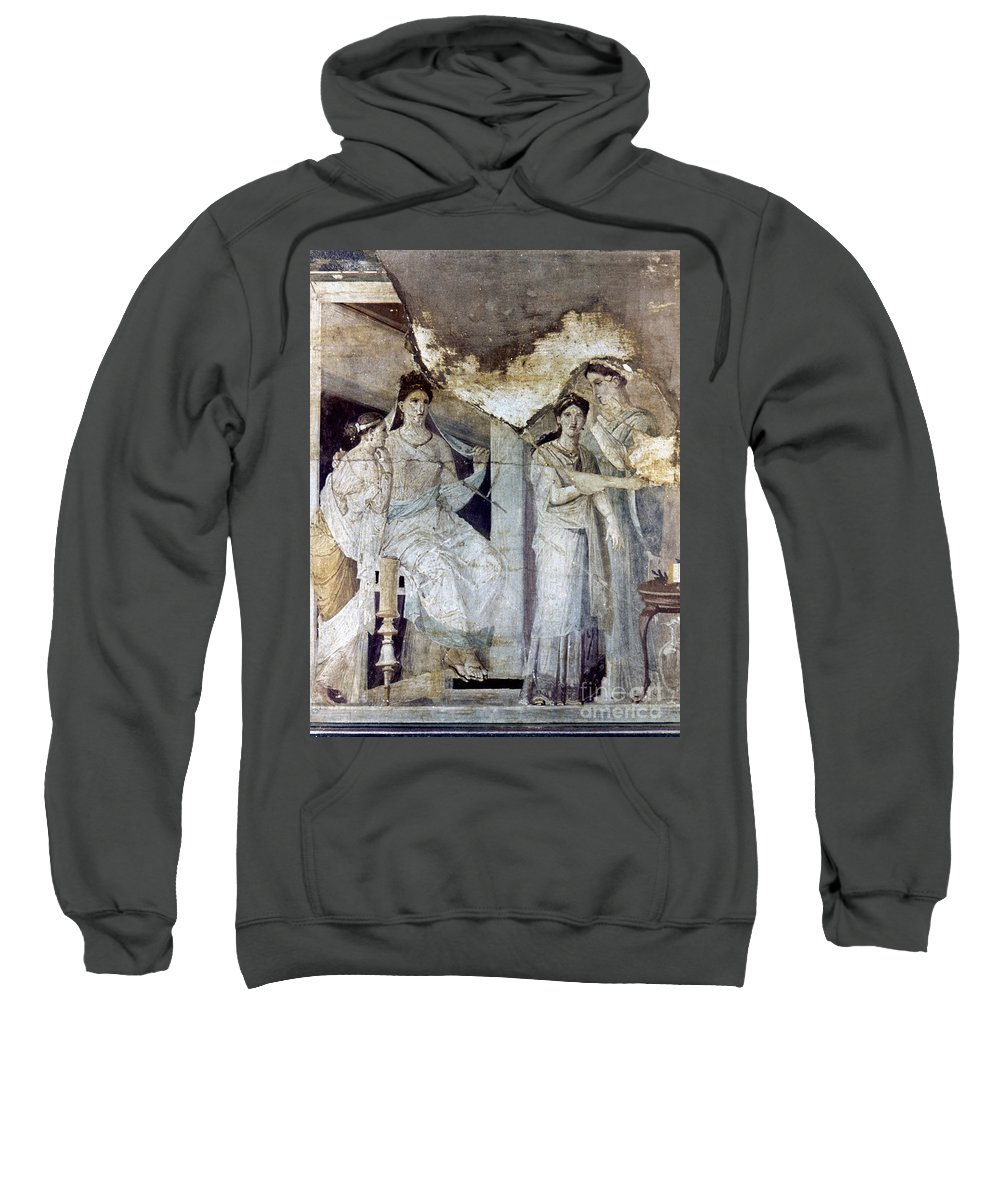 Ancient Sweatshirt featuring the photograph Roman Toilette Scene by Granger