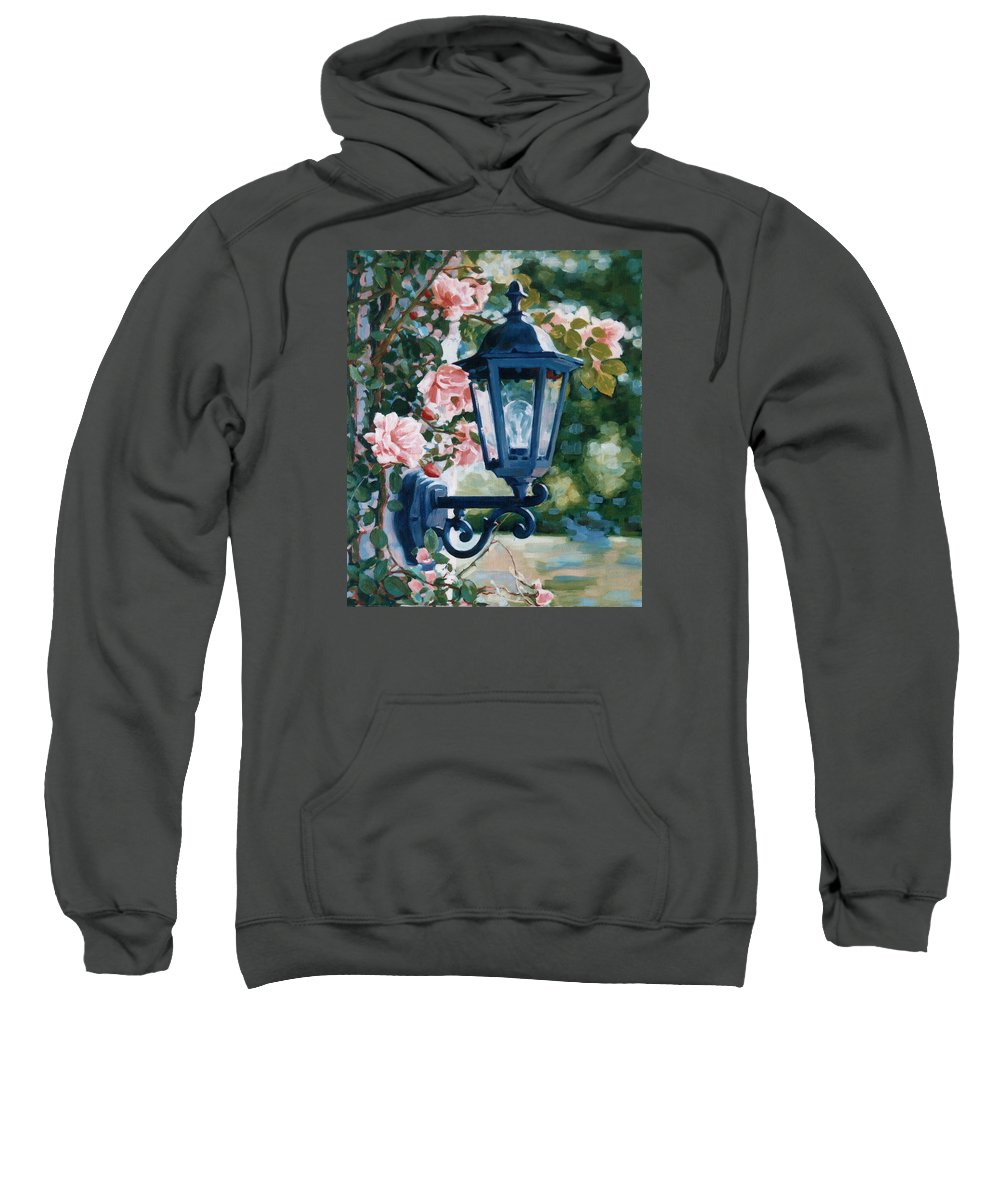 Roses Sweatshirt featuring the painting Romantic Fragrance by Iliyan Bozhanov