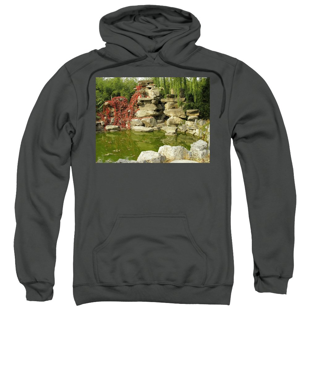 Horizontal Sweatshirt featuring the photograph Romantic Pond by Stefania Levi