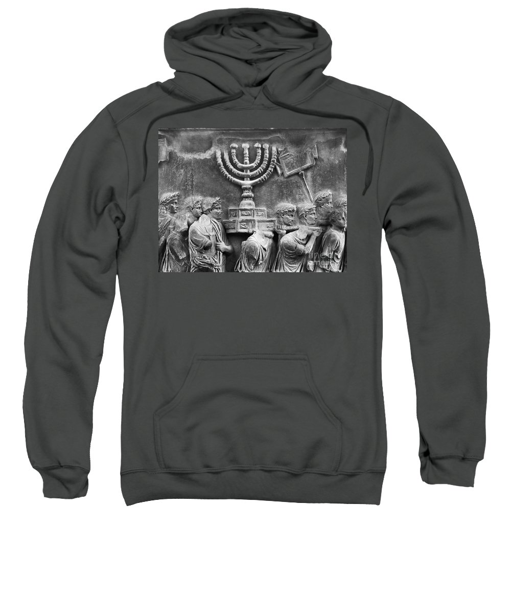 Ancient Sweatshirt featuring the photograph Rome: Arch Of Titus by Granger