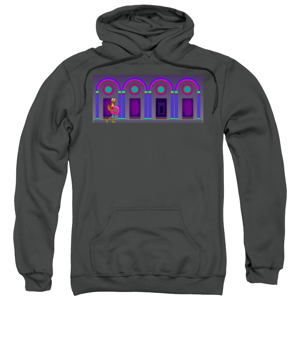 Classical Sweatshirt featuring the painting Rome At Night by Charles Stuart