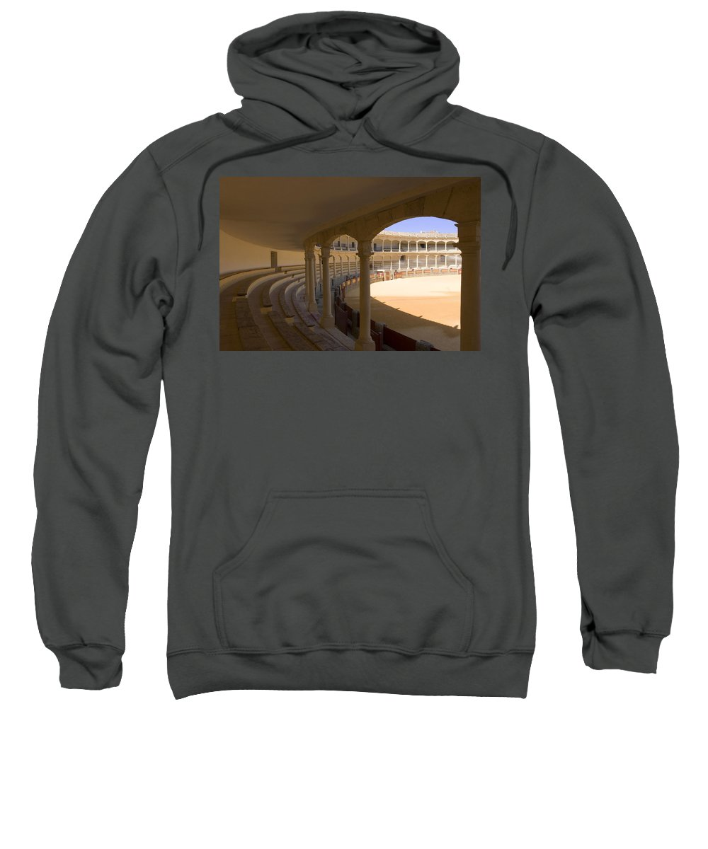 Bullfight Sweatshirt featuring the photograph Ronda Bullring The Real Maestranza De Caballeria by Mal Bray