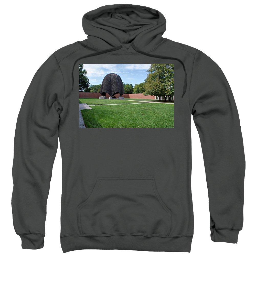 Church Sweatshirt featuring the photograph Roofless Church by Sandy Keeton