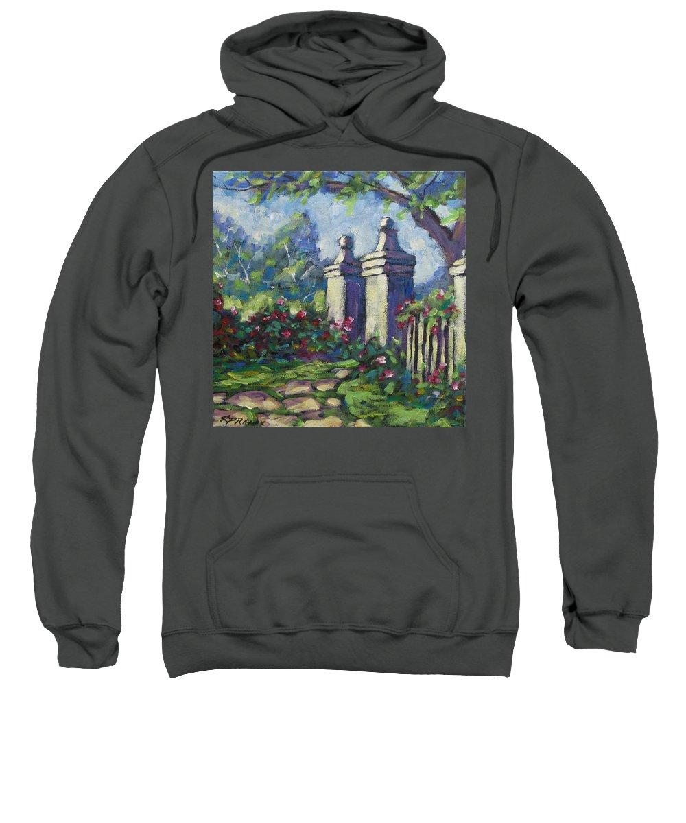 Rose Sweatshirt featuring the painting Rose Garden by Richard T Pranke