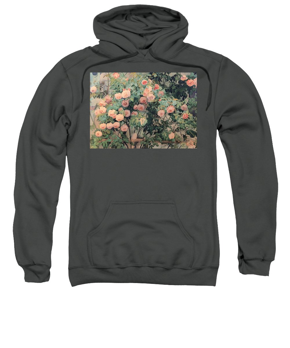 Painting Sweatshirt featuring the painting Roses by Mountain Dreams