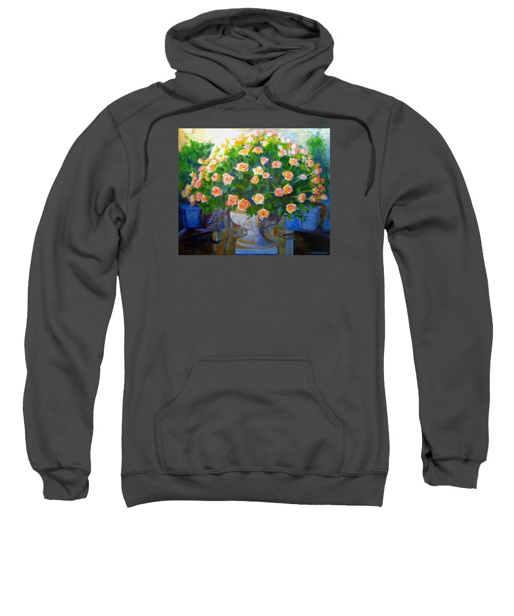 Rose Sweatshirt featuring the painting Roses At Table Bay by Michael Durst