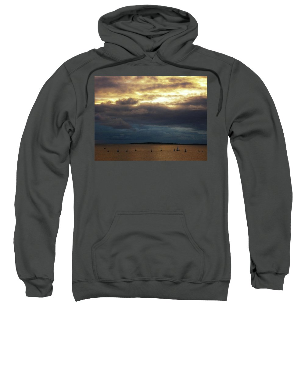 Seascape Sweatshirt featuring the photograph Rosses Point Co Sligo Ireland by Louise Macarthur Art and Photography
