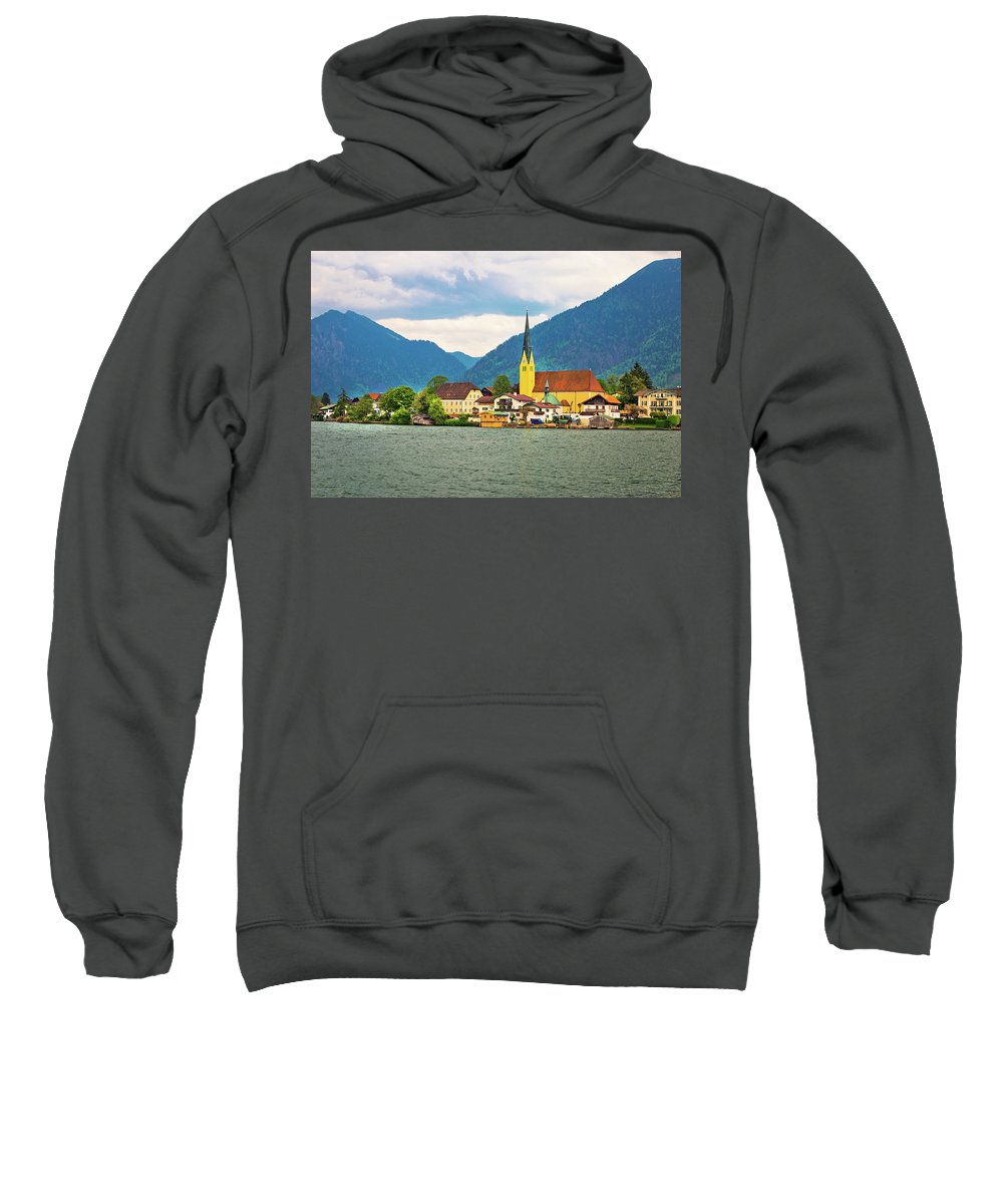 Rottach Sweatshirt featuring the photograph Rottach Egern On Tegernsee Architecture And Nature View by Brch Photography