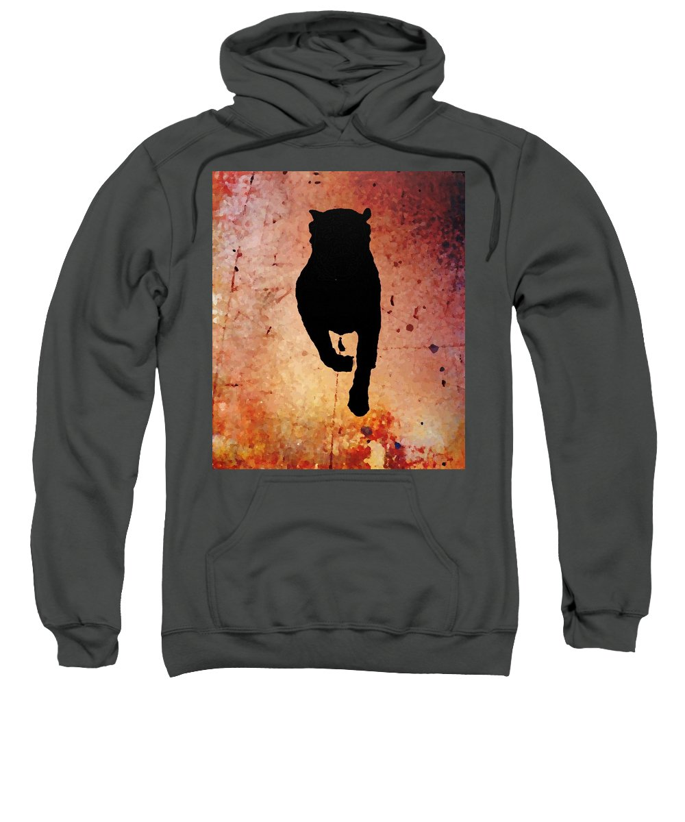 Sweatshirt featuring the photograph Rottie On Red by Tammy Milligan