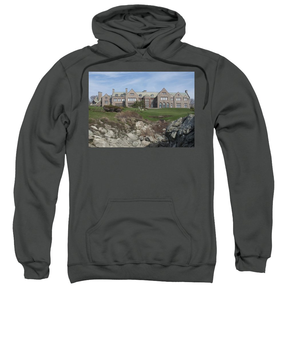 Mansions Sweatshirt featuring the photograph Rough Point by Steven Natanson