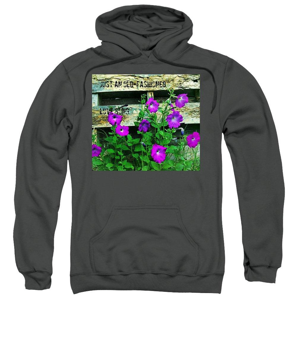 Cowboy Art Sweatshirt featuring the digital art Roughin It Love by Pamela Smale Williams