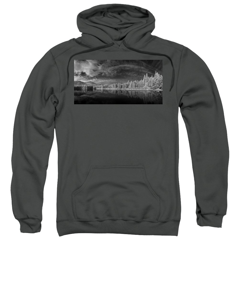 B&w Sweatshirt featuring the photograph Round Lake State Park 5 by Lee Santa