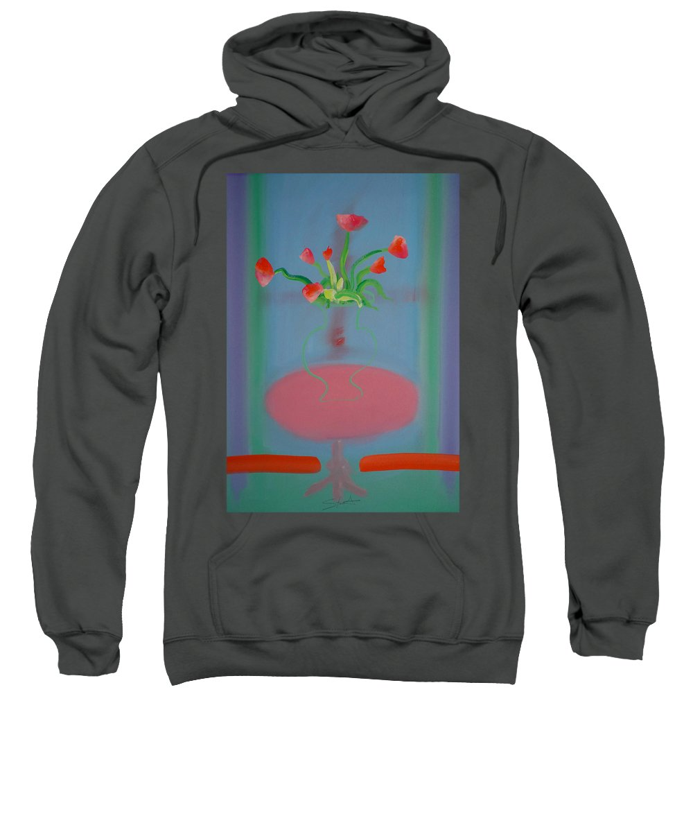 Flower Sweatshirt featuring the painting Rouseau Flowers by Charles Stuart