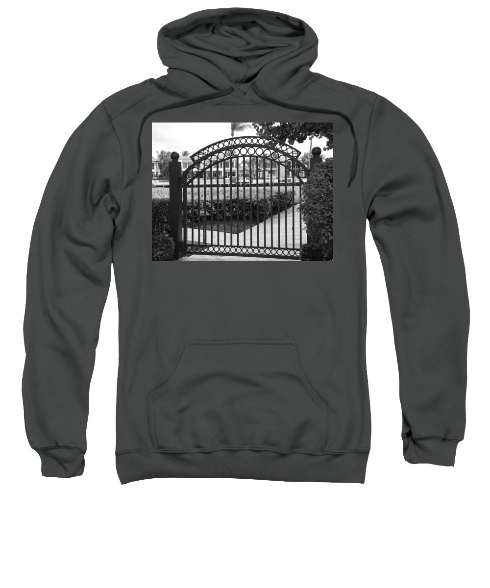 Gate Sweatshirt featuring the photograph Royal Palm Gate by Rob Hans