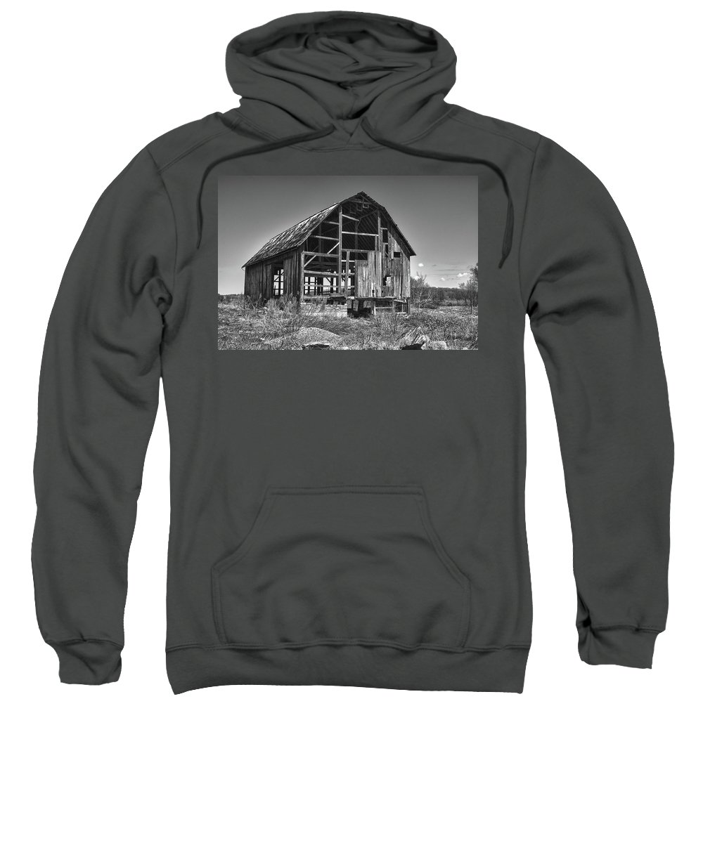 Barn Sweatshirt featuring the photograph Rt 16 Barn 1302a by Guy Whiteley