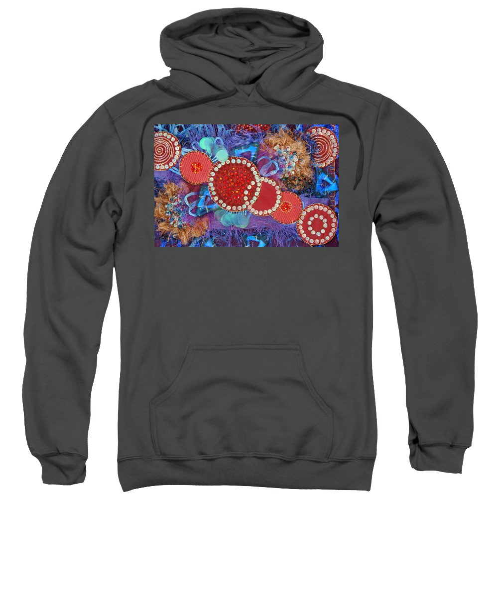 Sweatshirt featuring the mixed media Ruby Slippers 1 by Judy Henninger