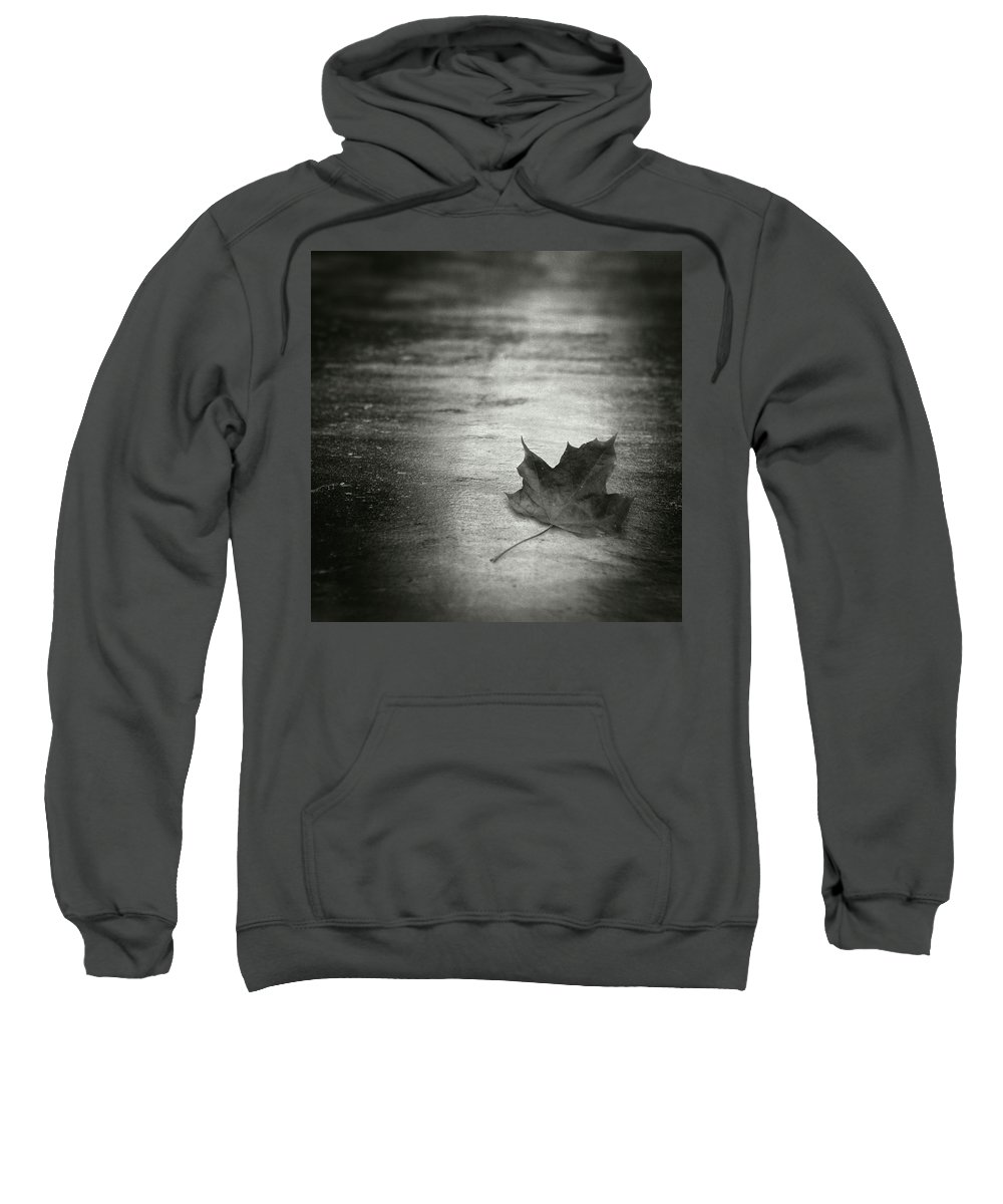 Leaf Sweatshirt featuring the photograph Rue Malebranche by Zapista