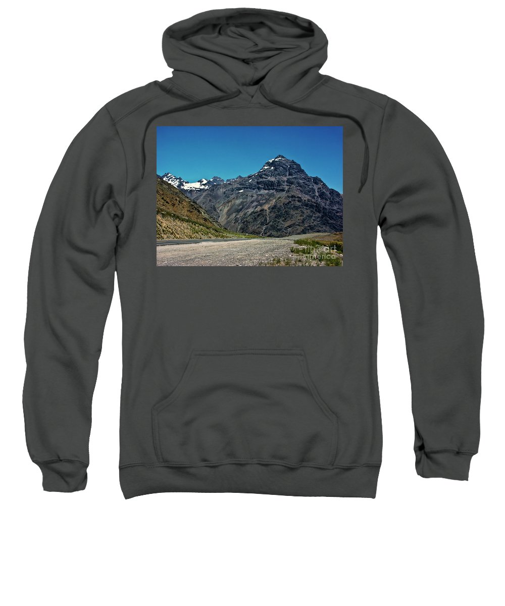Mountains Sweatshirt featuring the photograph Rugged Beauty by Roberta Bragan