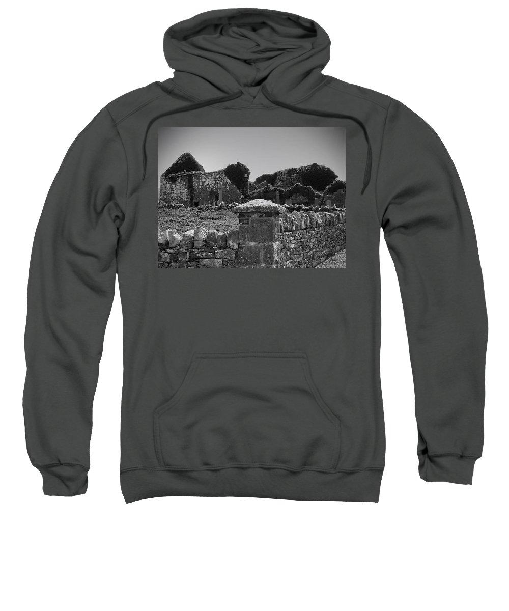 Irish Sweatshirt featuring the photograph Ruins In The Burren County Clare Ireland by Teresa Mucha