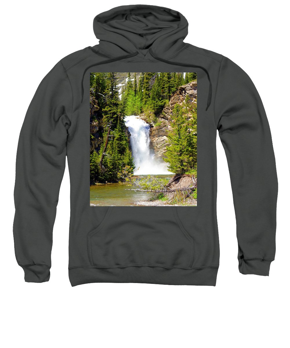 Waterfalls Sweatshirt featuring the photograph Running Eagle Falls by Marty Koch