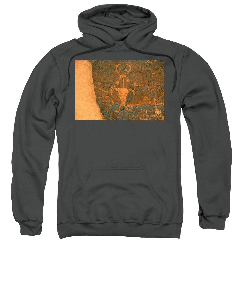 Running Sweatshirt featuring the photograph Running Man by David Lee Thompson