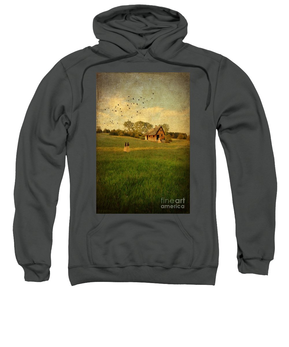 House Sweatshirt featuring the photograph Rural Cottage by Jill Battaglia