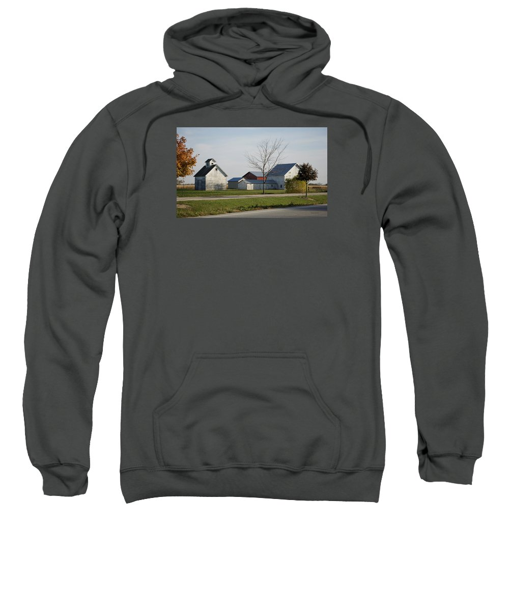 Farm Photographs Sweatshirt featuring the photograph Rural Farm Central Il by Thomas Woolworth