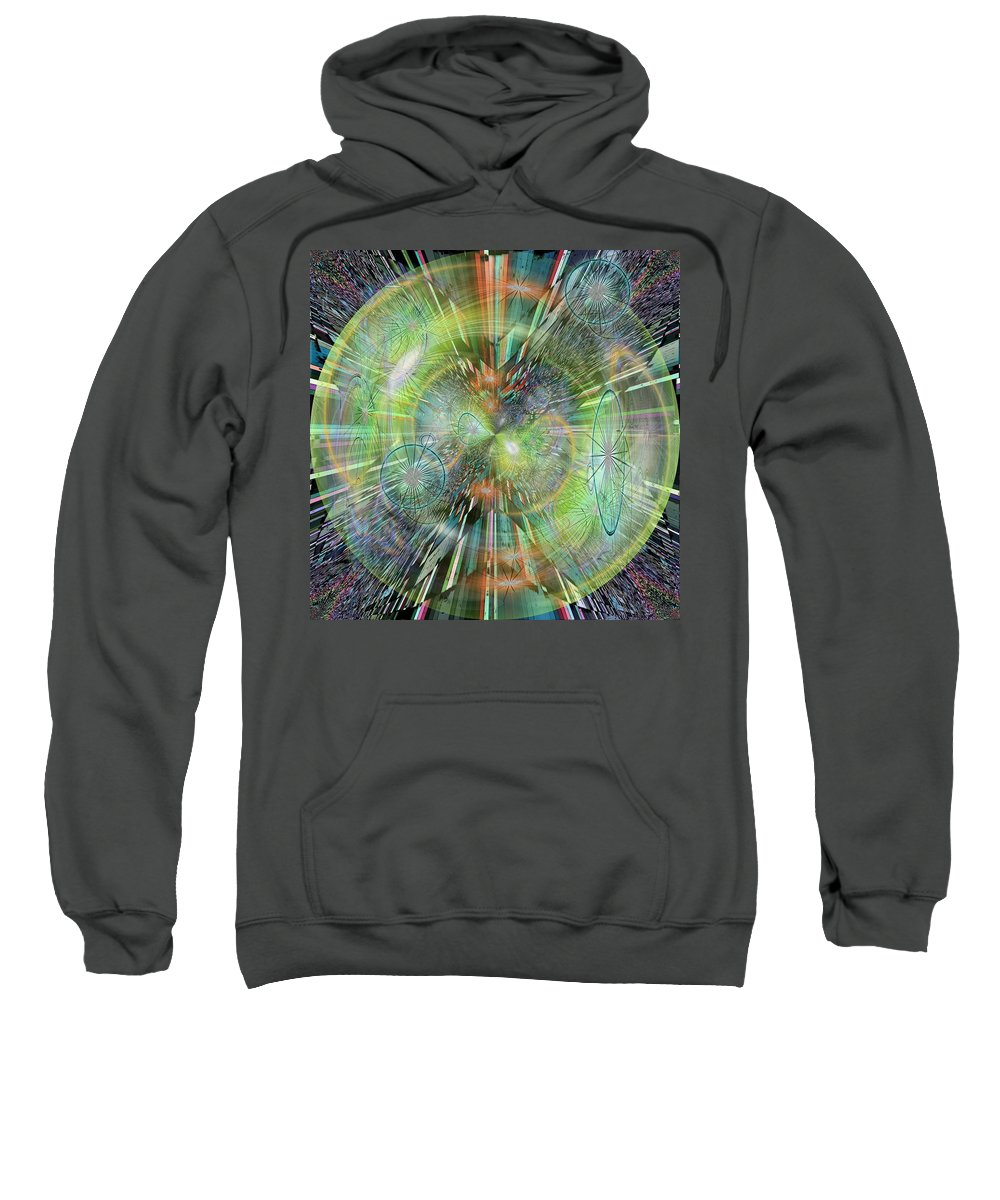 Abstract Sweatshirt featuring the digital art Rush Hour by Tim Allen
