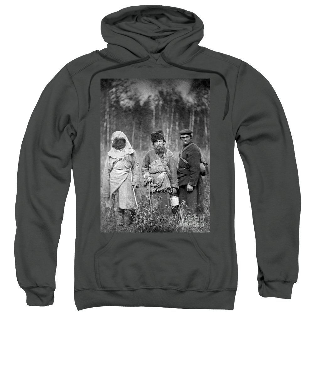 1885 Sweatshirt featuring the photograph Russia: Convicts, C1885 by Granger