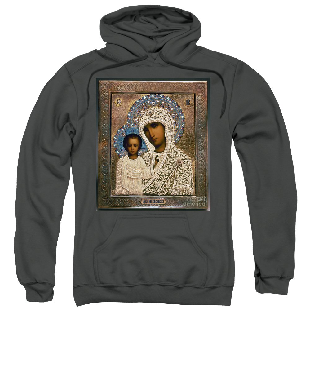 1896 Sweatshirt featuring the photograph Russian Icon: Mary by Granger