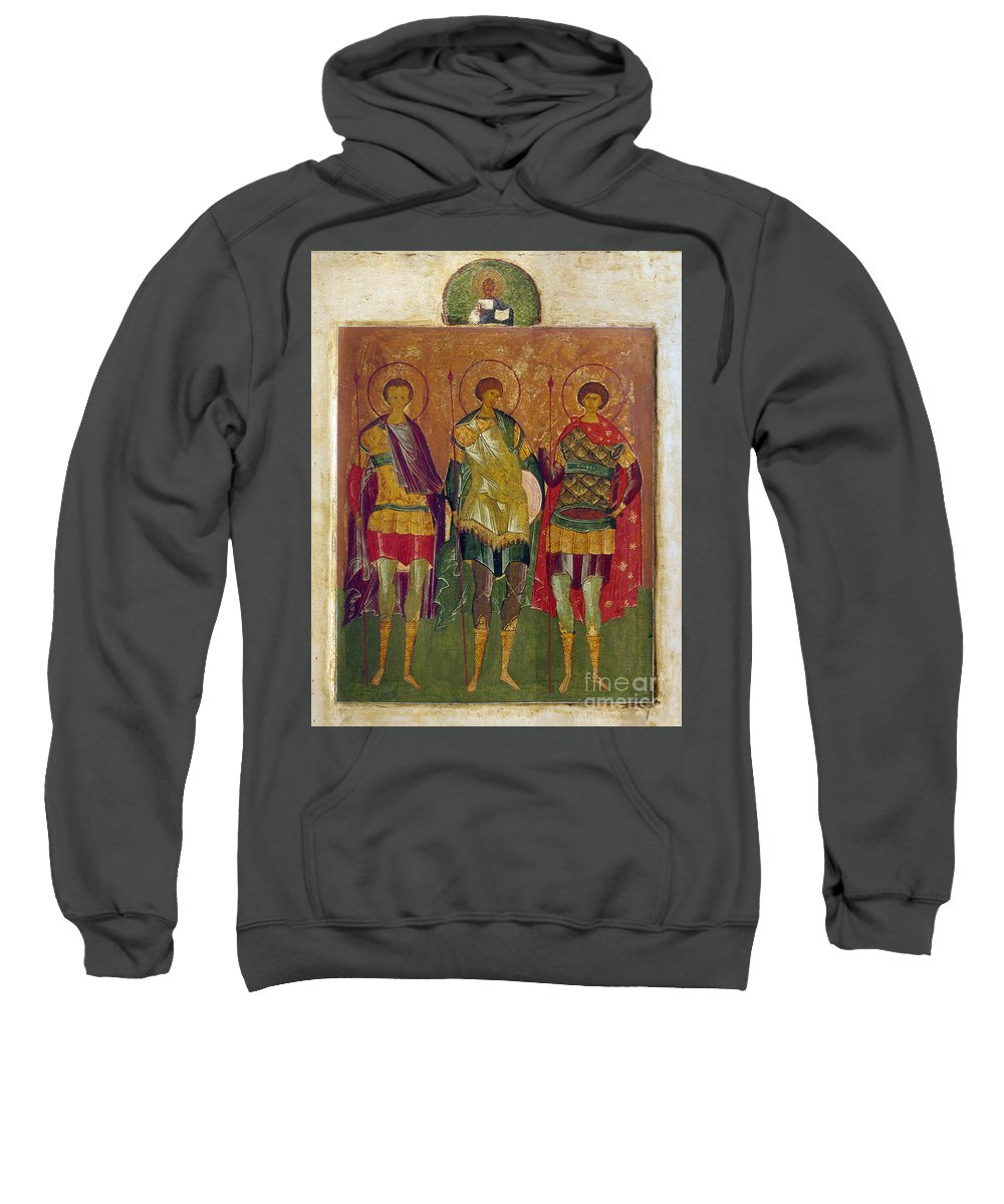 16th Century Sweatshirt featuring the photograph Russian Icon: Saints by Granger