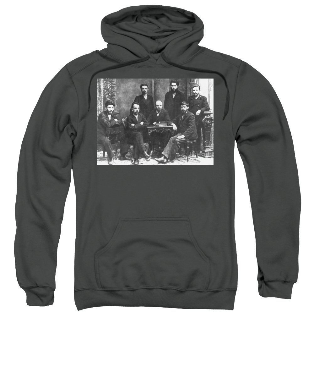 1897 Sweatshirt featuring the photograph Russian Marxists, 1897 by Granger