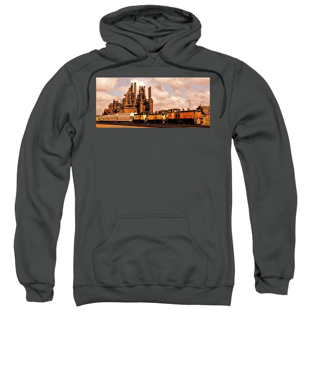Bethlehem Steel Sweatshirt featuring the photograph Rust In Peace by DJ Florek