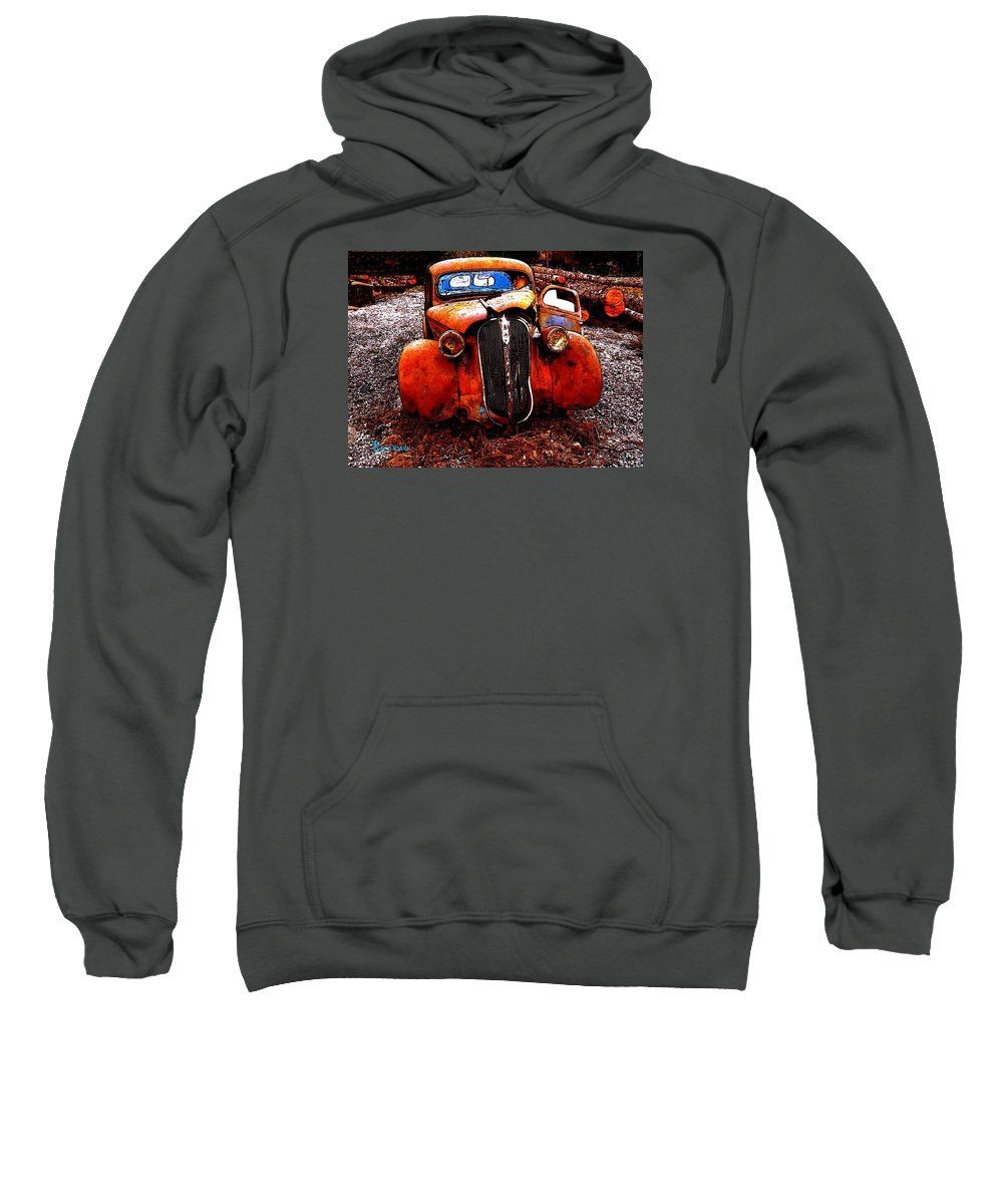 Autos Sweatshirt featuring the photograph Rust In Peace by Sadie Reneau