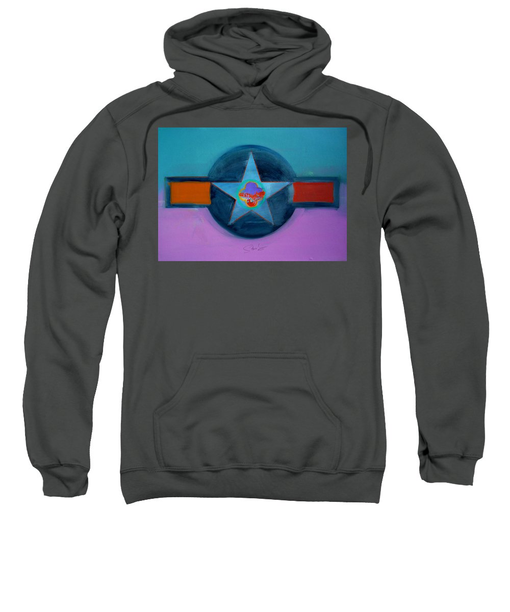 Star Sweatshirt featuring the painting Rust Or Bust by Charles Stuart