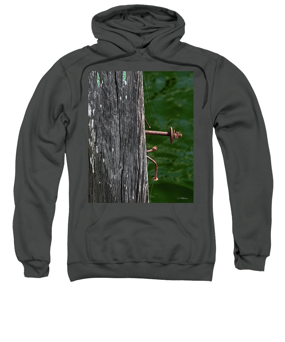 Bolt Sweatshirt featuring the photograph Rusted by Christopher Holmes