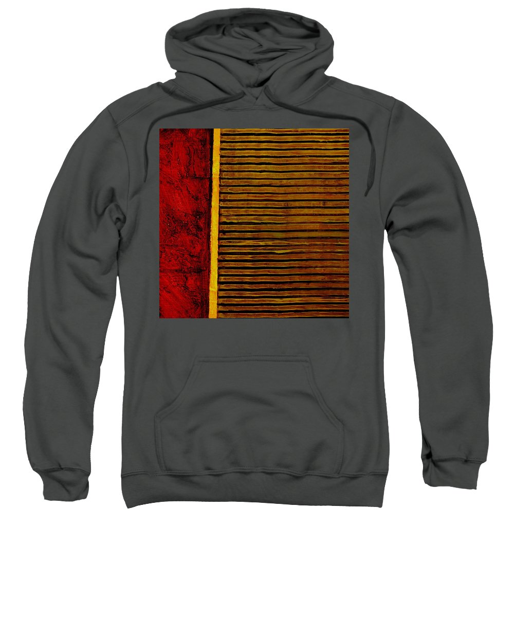 Rustic Sweatshirt featuring the painting Rustic Abstract One by Michelle Calkins
