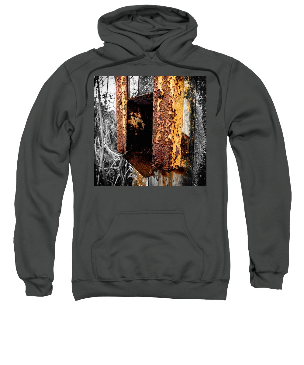 Rust Sweatshirt featuring the photograph Rusting Away by Nick Bywater