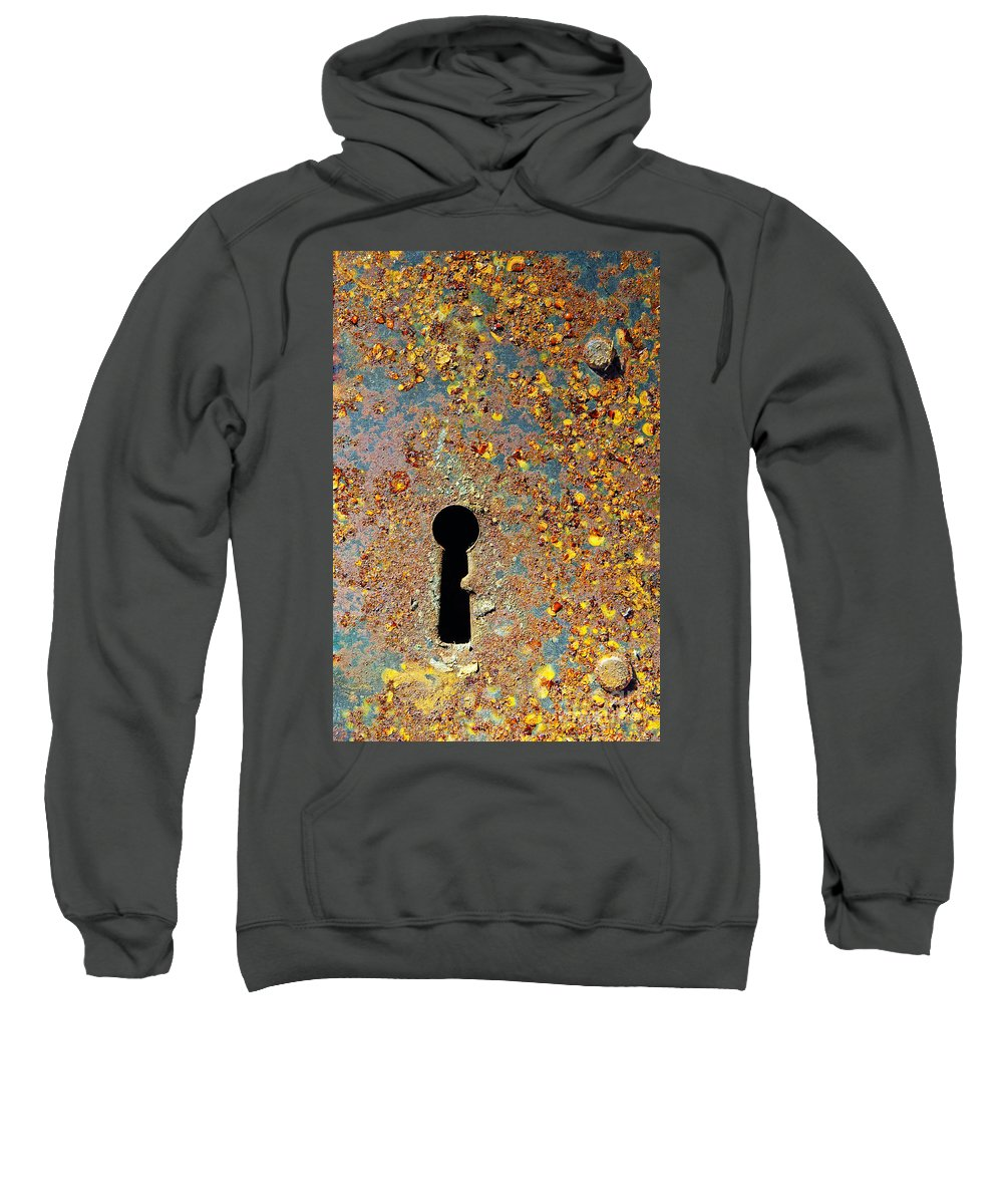 Abandoned Sweatshirt featuring the photograph Rusty Key-hole by Carlos Caetano