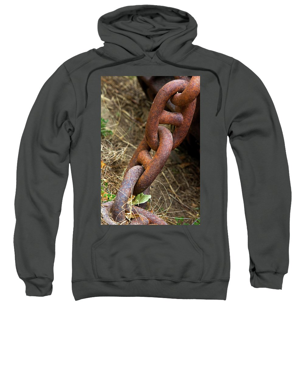 Chain Sweatshirt featuring the photograph Rusty Links by Phyllis Denton