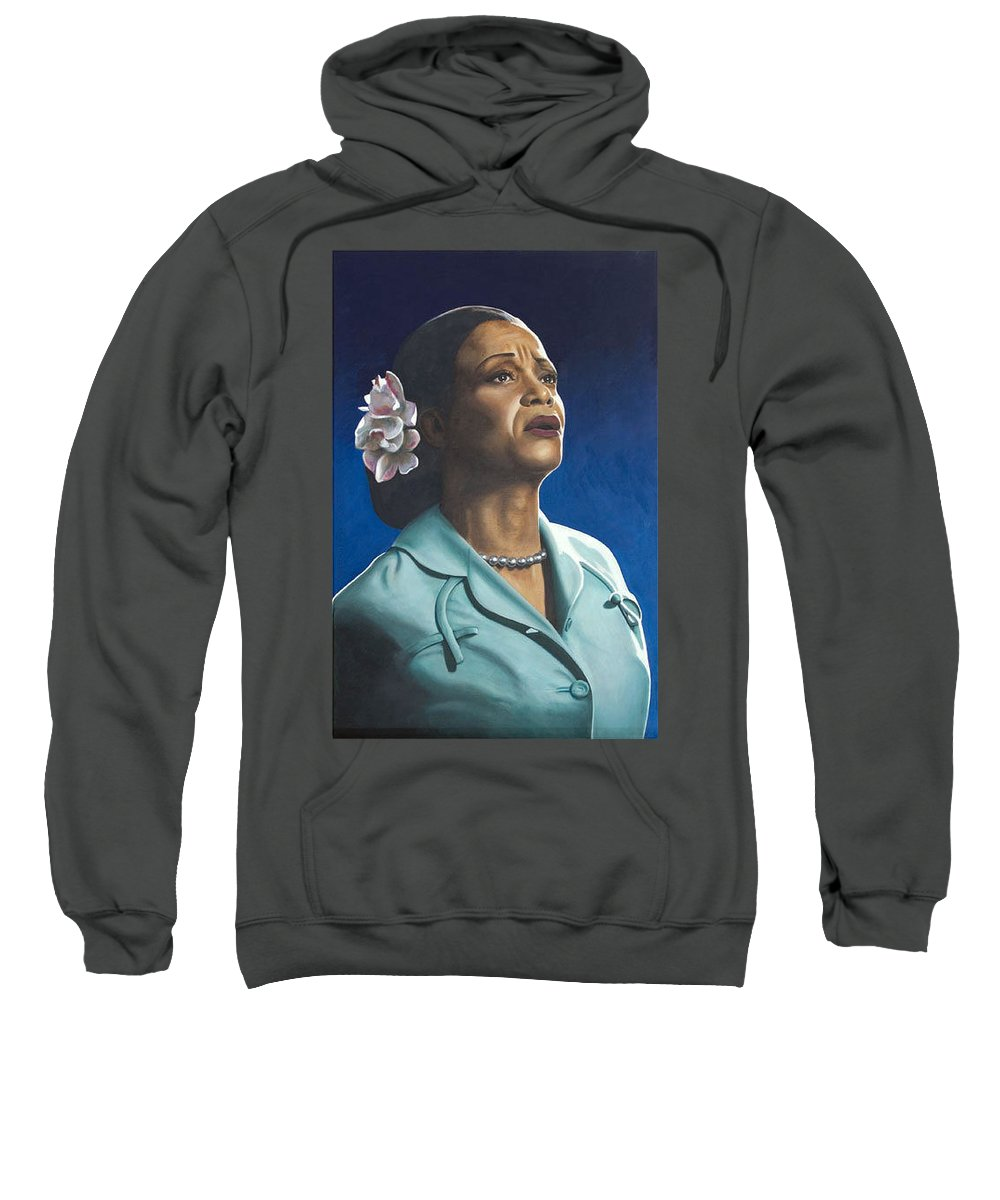 Portrait Sweatshirt featuring the painting Ruth Jacott by Rob De Vries