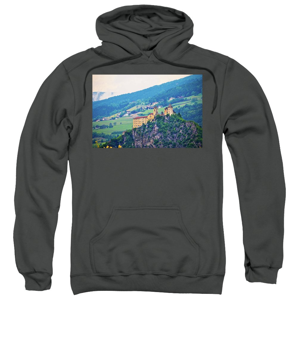 Italy Sweatshirt featuring the photograph Saben Abbey On High Cliff Near Klausen View by Brch Photography