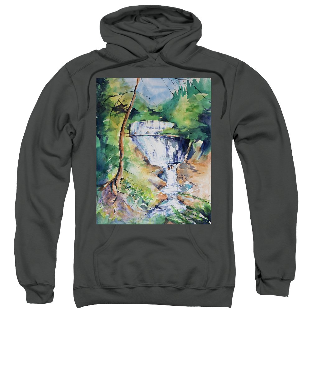 Water Sweatshirt featuring the painting Sable Falls by Adam VanHouten