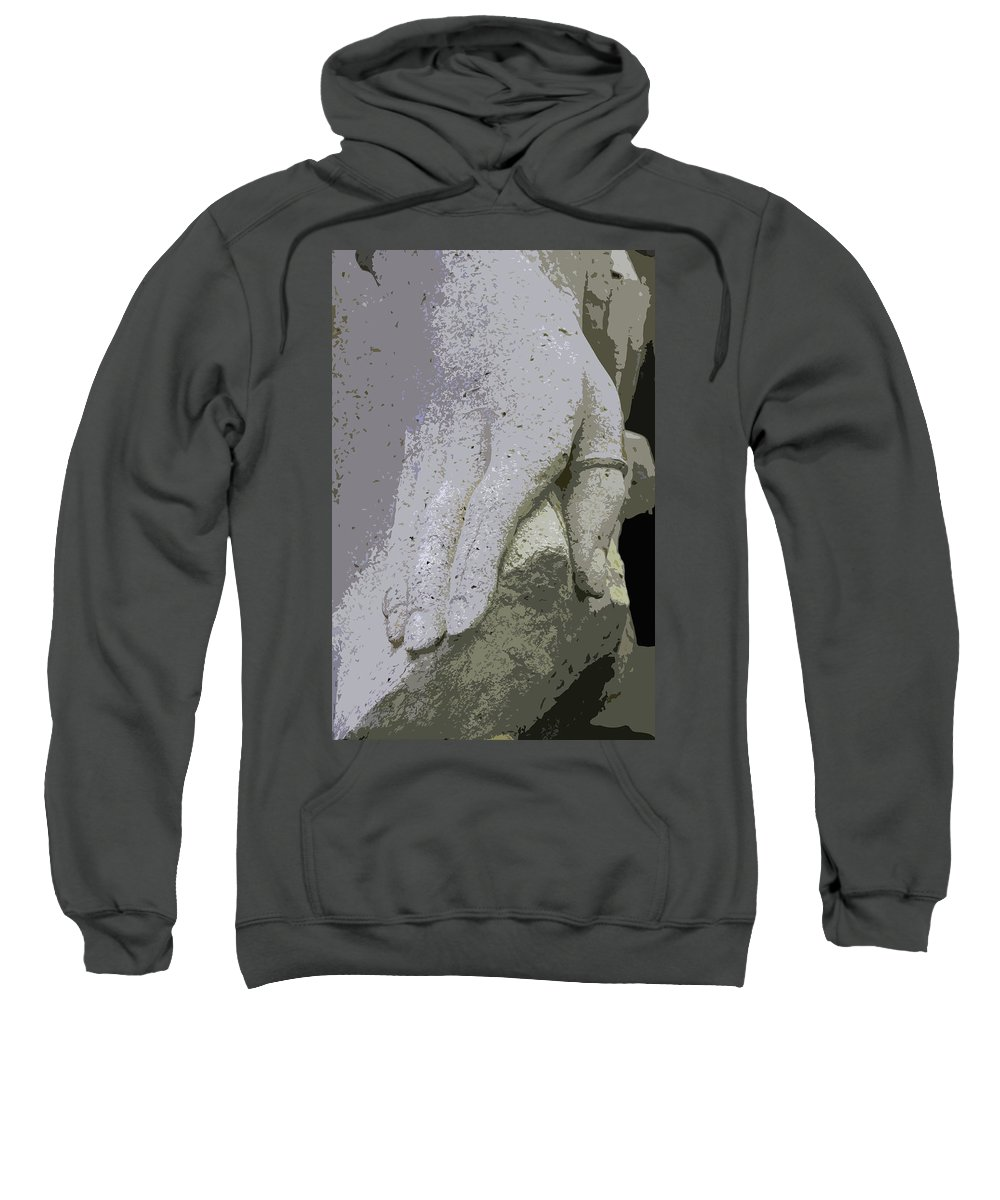 Hand Sweatshirt featuring the photograph Sacramento Hand by Michiale Schneider