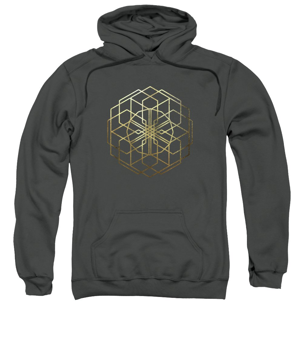 'sacred Symbols' Collection By Serge Averbukh Sweatshirt featuring the digital art Sacred Geometry - Philosopher's Stone No. 5 by Serge Averbukh