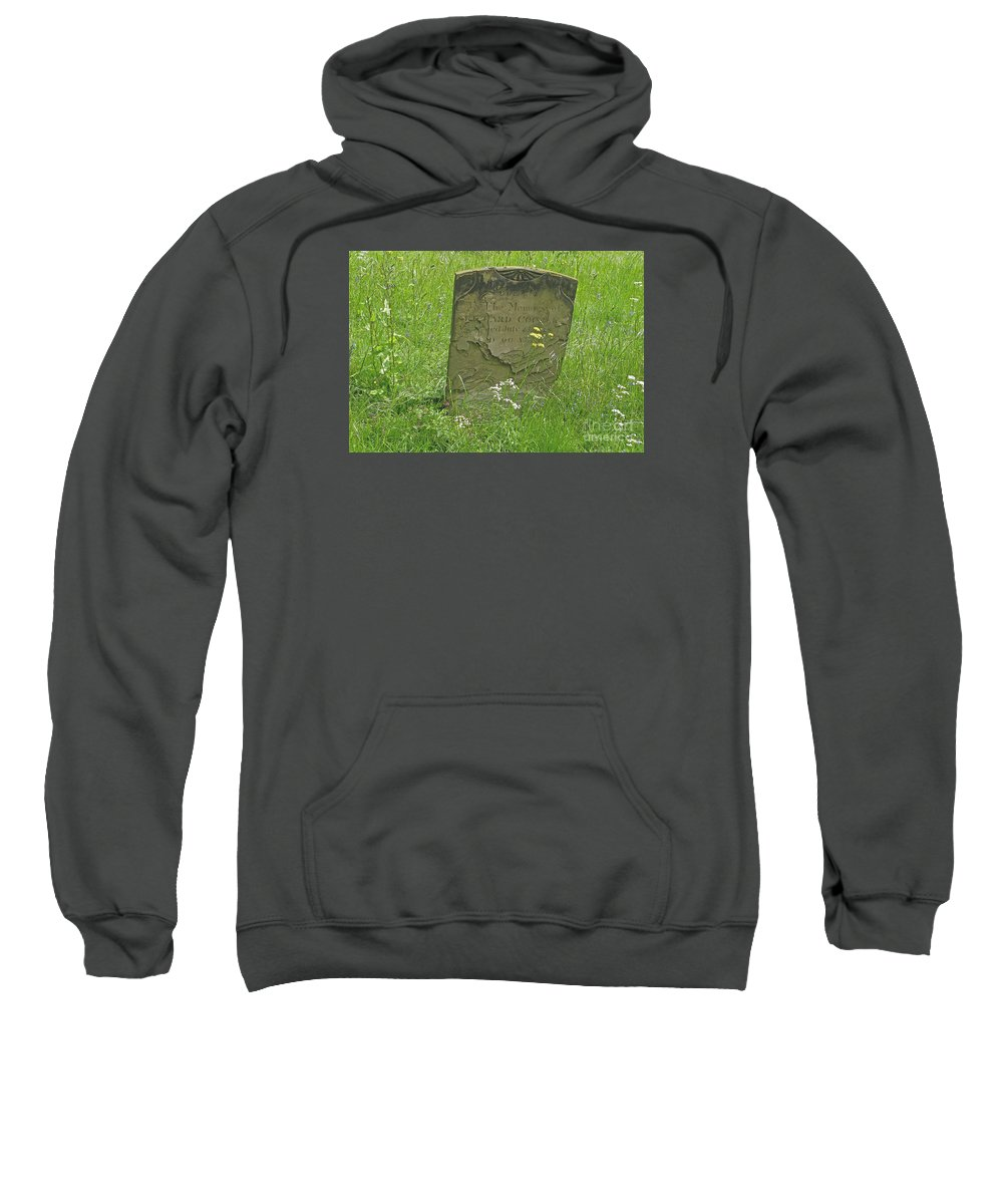 Tombstone Sweatshirt featuring the photograph Sacred Memory by Ann Horn