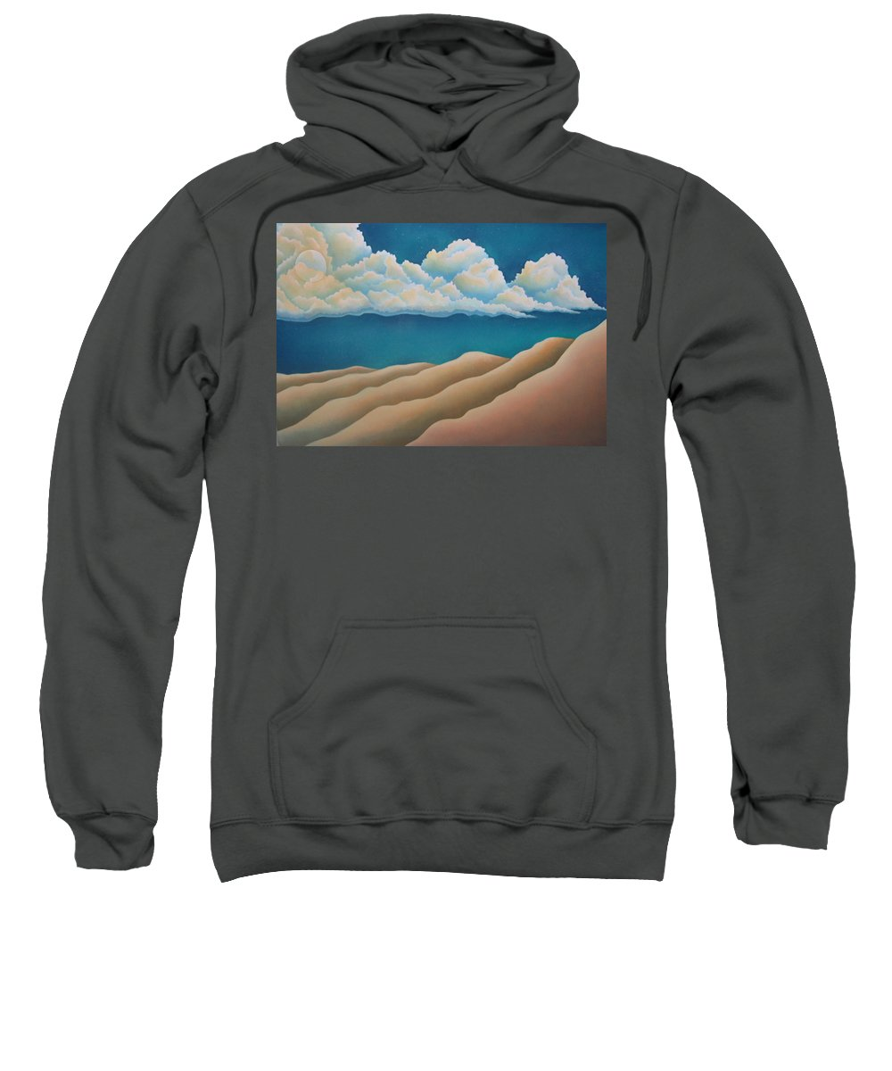 Landscape Sweatshirt featuring the painting Sacred Night by Jeniffer Stapher-Thomas
