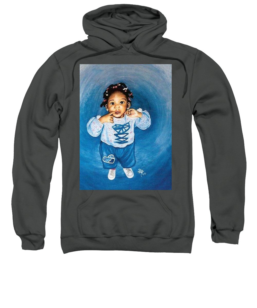 Child Sweatshirt featuring the pastel Sadie by Gale Cochran-Smith